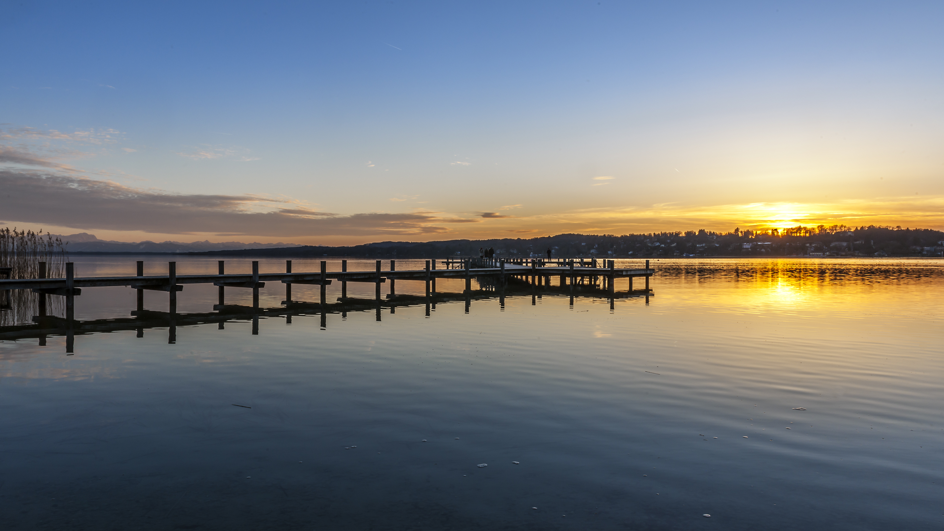 sonnenuntergang am starnberger see wgm picture. Black Bedroom Furniture Sets. Home Design Ideas