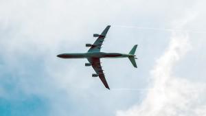 Der Streifenmacher Im Landeanflug zum Flughafeb München