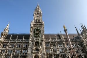 Neues Rathaus München Vom Marienplatz aus aufgenommen