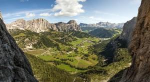 Blick aus dem Pisciadù-Klettersteig