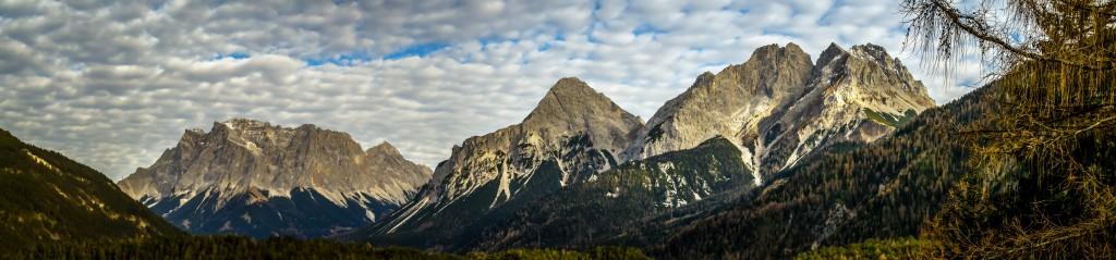 Fernpass-Panorama Wetterstein und ehrwalder Sonnenspitze