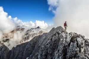 Der einsame Wanderer Auf dem Innbrucker Klettersteig