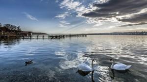 "Wolkenspiele Am Starnberger See ""kurz"" vor dem Sonnenuntergang"