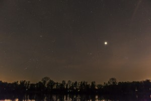 Orion - Hyaden - Venus - Plejaden - Sternbilder Mit eingezeichneten Sternbildern