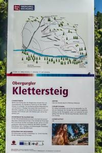 Obergurgler Klettersteig Topotafel am Einstieg