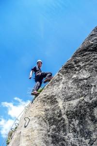 Obergurgler Klettersteig Der erste leichte Aufschwung