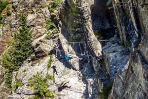 Obergurgler Klettersteig Seilbrücke:beim abhängen