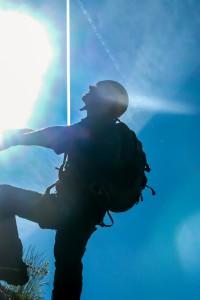 Obergurgler Klettersteig Gegenlicht