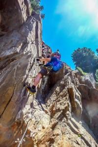 Obergurgler Klettersteig In der Schlüsselstelle