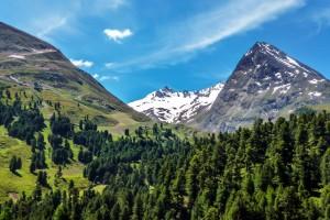 Obergurgler Klettersteig Der Blick zu den Gletschergipfel