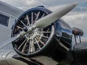 Junkers Ju 52/3m auch Tante Ju genannt (D-ANOY) der Lufthansa im Besucherpark Flughafen München