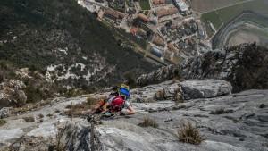 Tiefblick aus der Via ferrata Rino Pisetta
