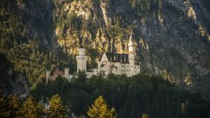 Märchenschloss in der Morgensonne Schloss Neuschwanstein