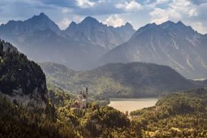 Ein majestätischer Blick Beim Abstieg vom Tegelberg nach der Rohrkopfhütte