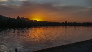 Abendstimmung am Karlsfelder See