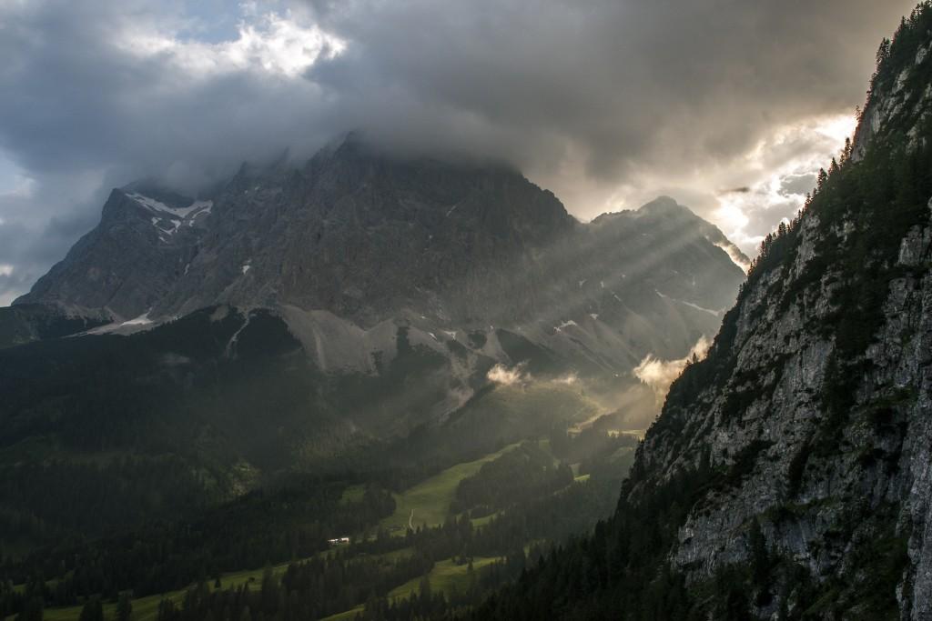 Blick aus dem Seeben-Klettersteig