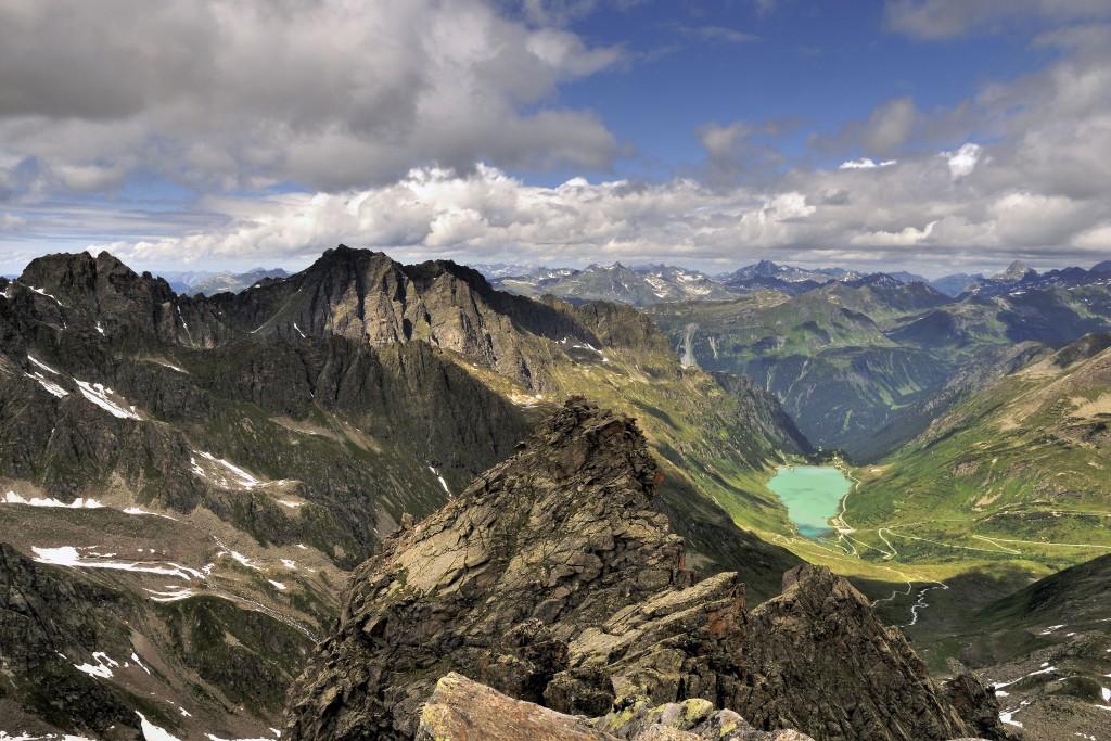 Blick vom Kleinlitzner (2760m) - Silvretta