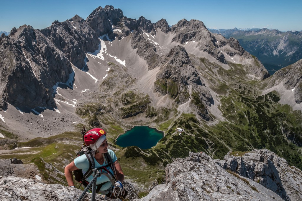 Klettersteig Tajakante auf den Vorderen Tajakopf