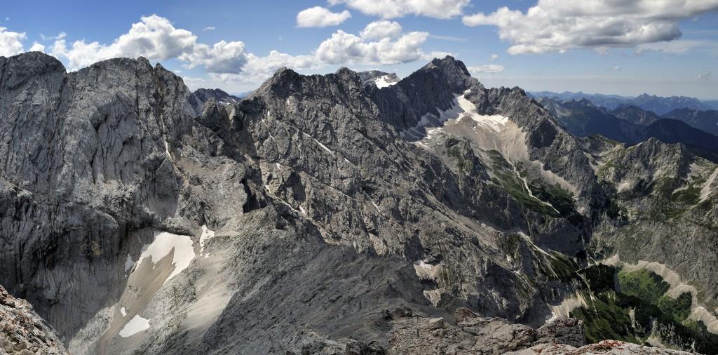 Jubiläumsgrat Nord Blick von der Alpspitze