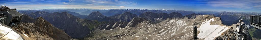180° Zugspitzpanorama Süd