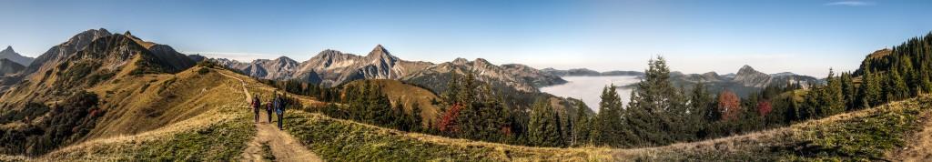 Tannheimer Berge Auf dem Weg zur Lachenspitze
