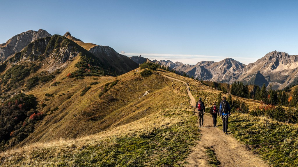 Tannheimer Berge - Panoramaausschnitt Auf dem Weg zur Lachenspitze