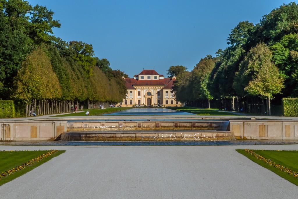 Schleißheim Blick auf Schloss Lustheim