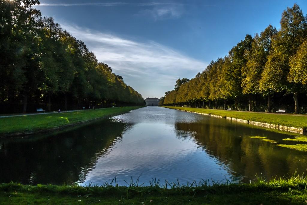Schlosspark Schleißheim 2 Blick zurück