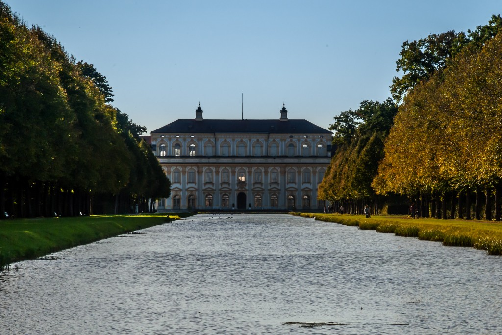 Schlosspark Schleißheim 2 Blick zum Schloss Schleißheim