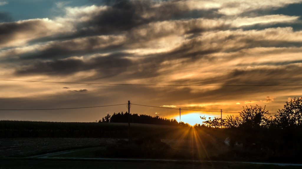 Abendstimmung auf dem Land Die letzten Sonnenstrahlen