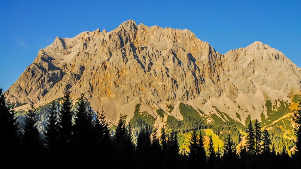 Das Abendrot beginnt Wettersteingebirge