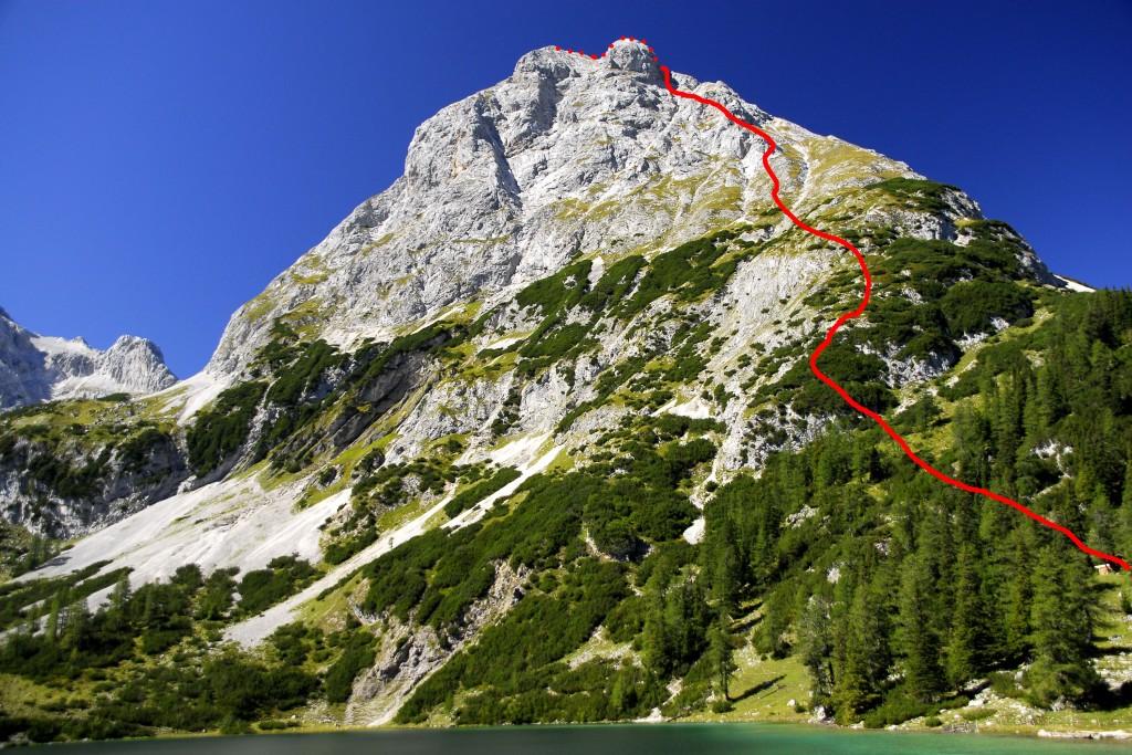Ehrwalder Sonnenspitze - Abstiegsroute
