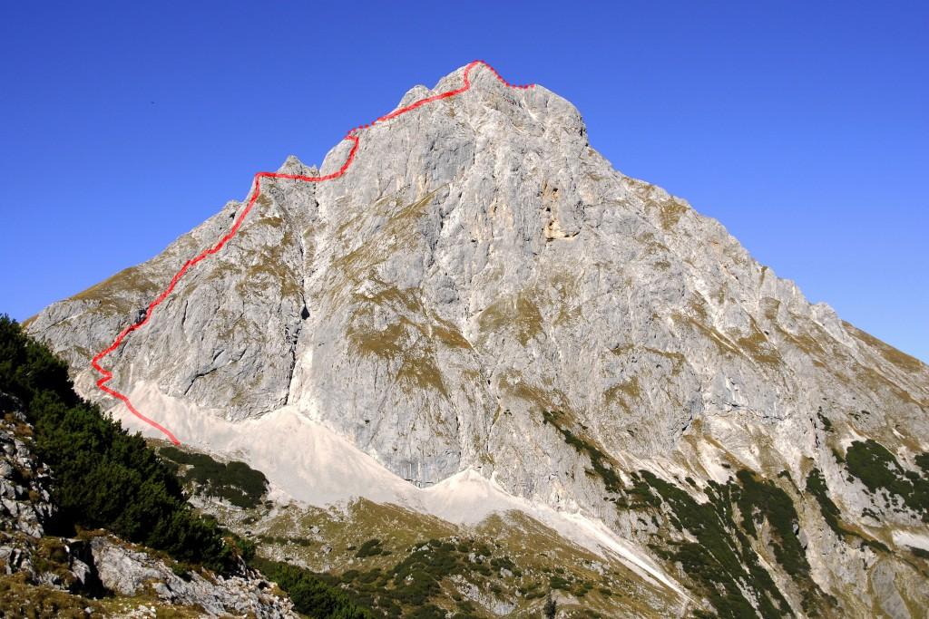 Ehrwalder Sonnenspitze - Aufstiegsroute