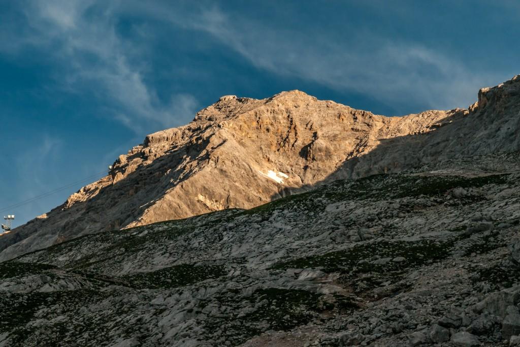 Sonnenaufgang auf dem Zugspitzmassiv