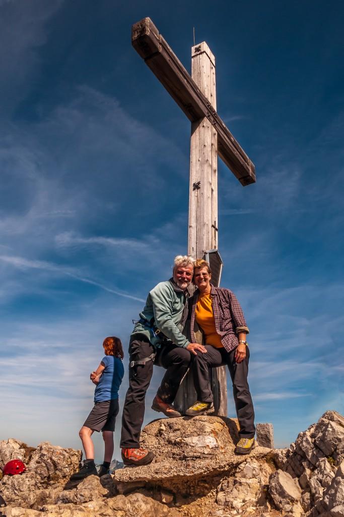 Der Gipfel der Lachenspitze Das Gipfelkreuz ist erreicht