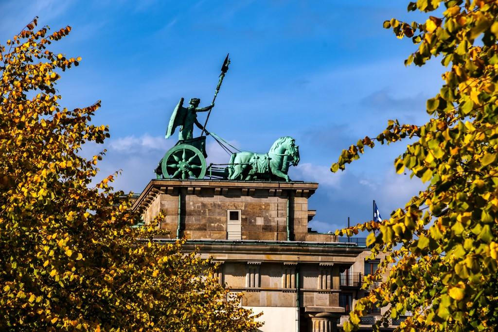 Die Quadriga auf dem Brandenburger Tor in Berlin