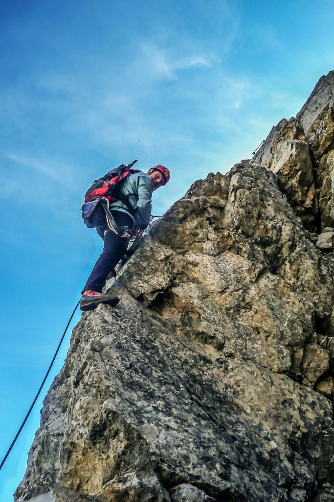 Walter im Lachenspitze-Klettersteig