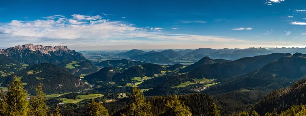 Panorama vom Kehlsteinhaus aus gesehen