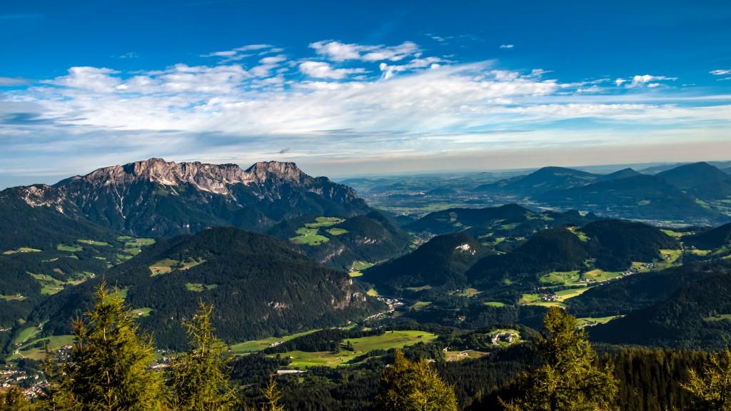 Panorama vom Kehlsteinhaus aus gesehen - Ausschnitt