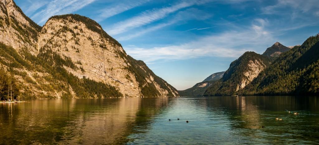 Königssee: der Blick zurück