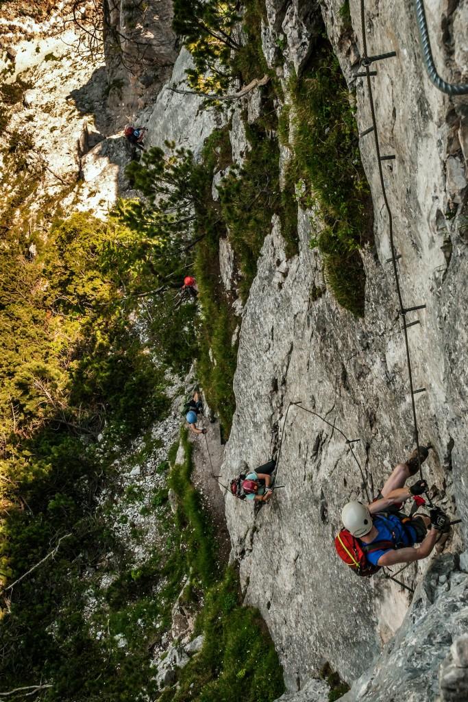Seebenwand Ausstieg Seeben Klettersteig in den Mieminger Bergen