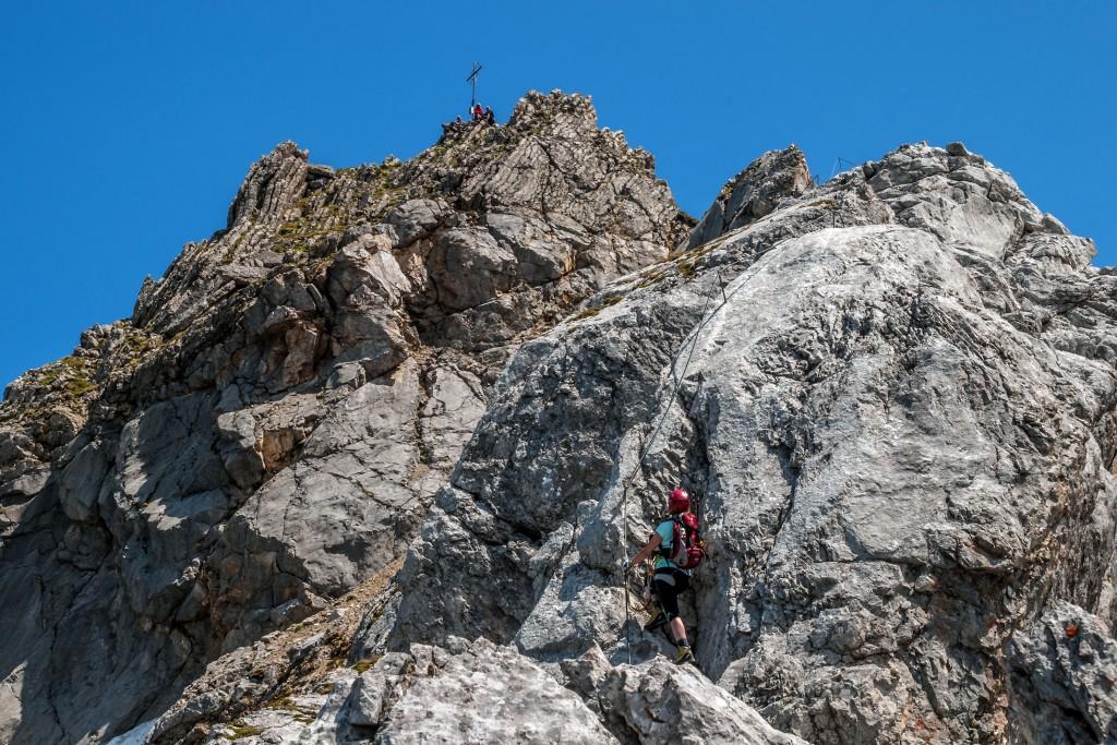 Gipfelaufbau zum Vorderen Tajakopf
