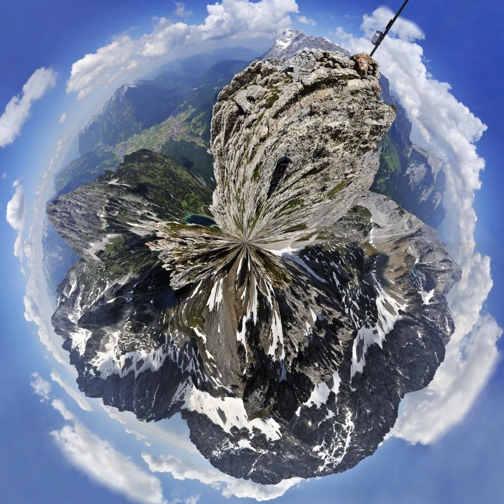 360° Panorama vom Vorderen Tajakopf Panoramakugel