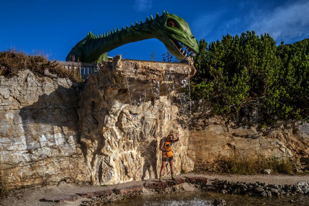 Sie sind mitten unter uns Triassic Park auf der Steinplatte