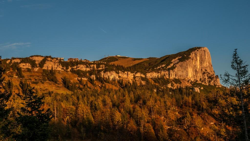 Alpenglühen auf der Steinplatte