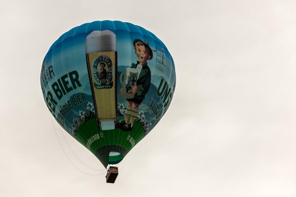 Heißluftballon: Überflug