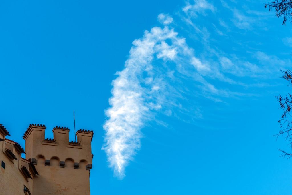 Der Turm und seine Wolke Schloss Hohenschwangau
