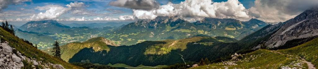 Panoramablick ins Göllmassiv