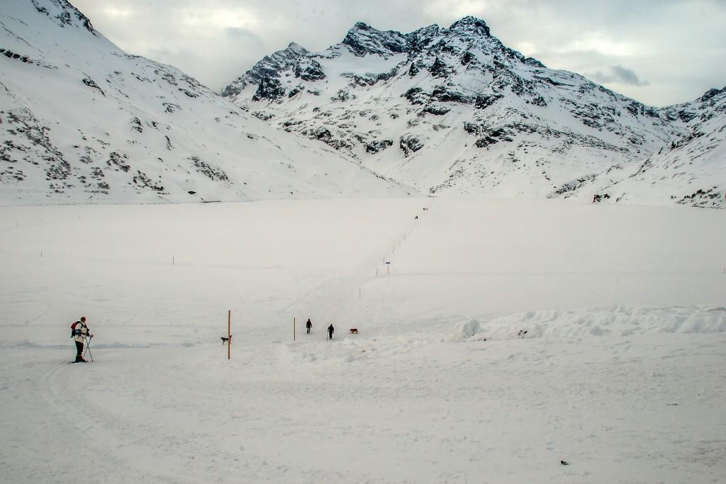 Auf dem Silvretta-Stausee