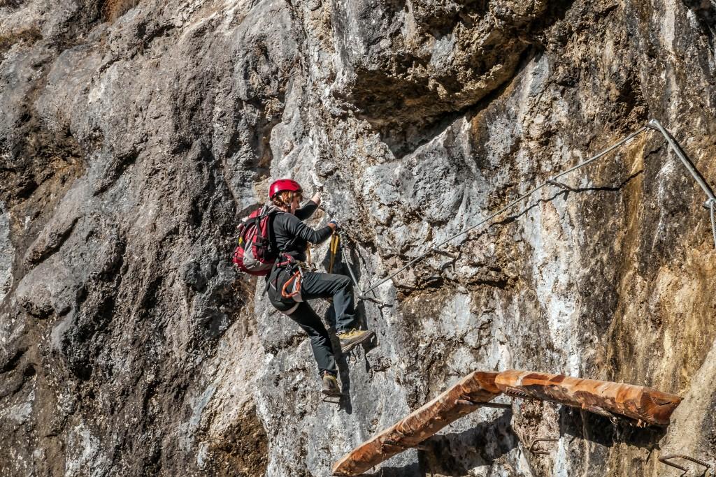 Klettersteig am Hausbachfall